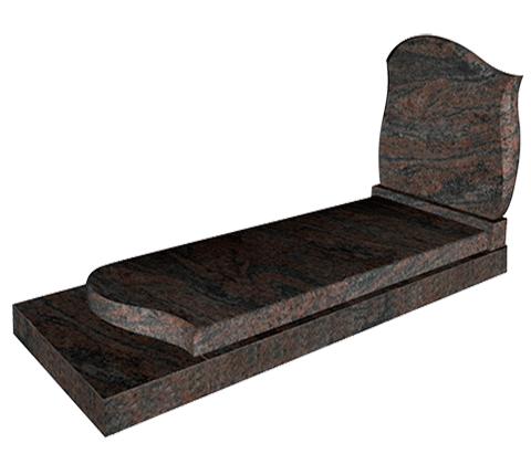 Vague (ST09) - Himalaya Blue Monument funéraire Sansone Origine personnalisable classiques ou contemporains