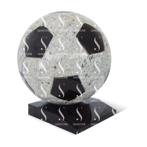 BF01 - Ballon de football en granit avec socle