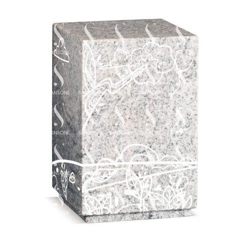 U46-01 - Urne Dessin gravée en granit