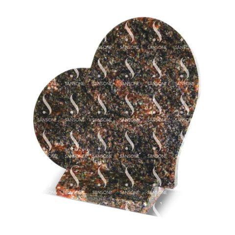 PLC2530 - Plaque coeur en granit avec socle