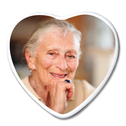 Photo Porcelaine – Représentation de la photographie du défunt sur un support porcelaine coeur-2