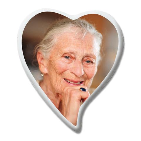 Photo Porcelaine – Représentation de la photographie du défunt sur un support porcelaine coeur-larme-3