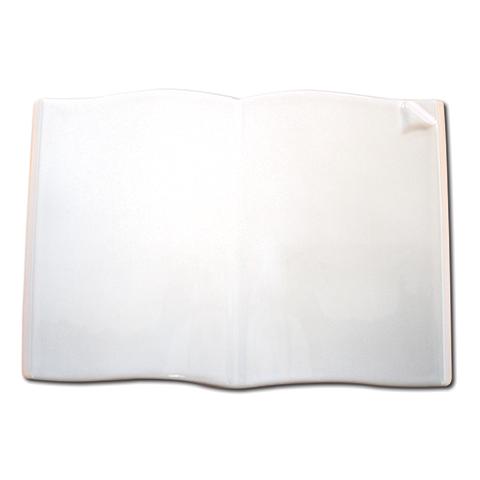 Photo Porcelaine – Représentation de la photographie du défunt sur un support porcelaine livre-ouvert