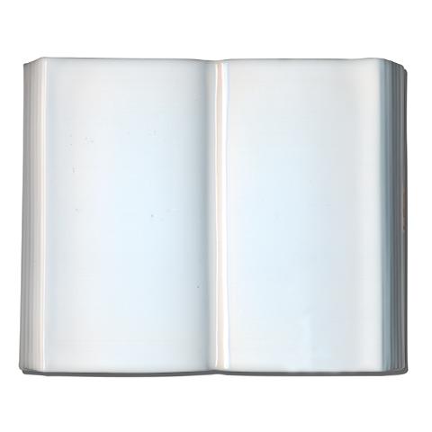 Photo Porcelaine – Représentation de la photographie du défunt sur un support porcelaine livre-simple