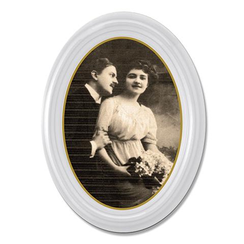 Photo Porcelaine – Représentation de la photographie du défunt sur un support porcelaine ovale-avec-moulure-2