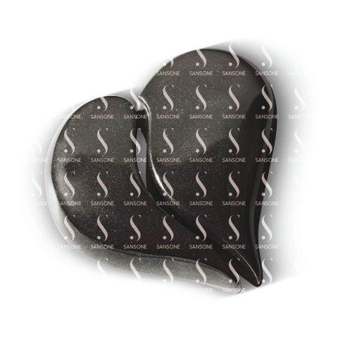 Coeur Dyade en granit Sansone en noir fin