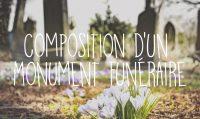 composition d'un monument funéraire fleurs cimetière