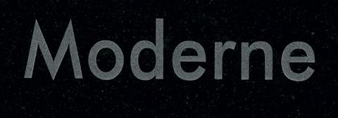 Lettre gravure moderne
