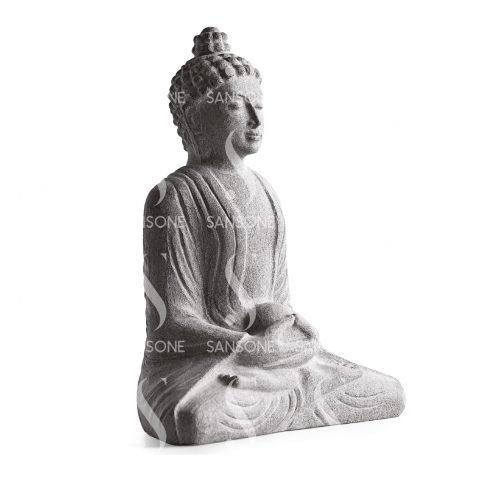 BU0130 Bouddha en Granit Monolithe sculpté