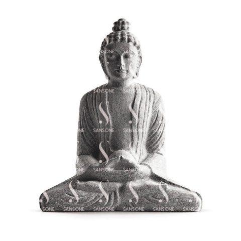 BU0130 Bouddha en Granit Monolithe sculpté Sansone
