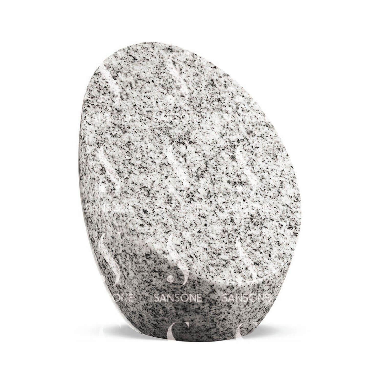PSO01 Porte Souvenir en granit modèle Oval Viscount white